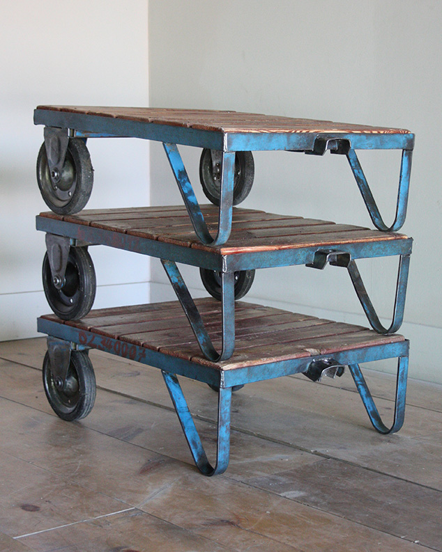 Small Blue Pallet Tables