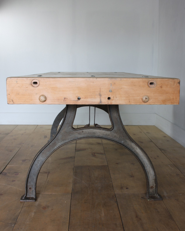 industrial table arched legs