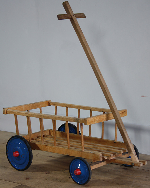 Blue Wheeled Trolley