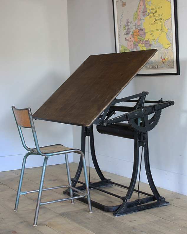 black architect table