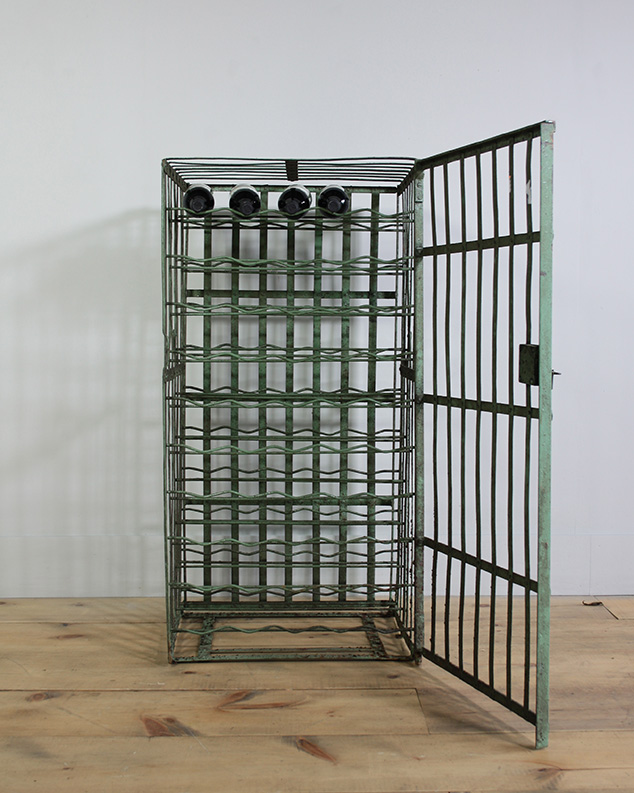 metal green wine cages