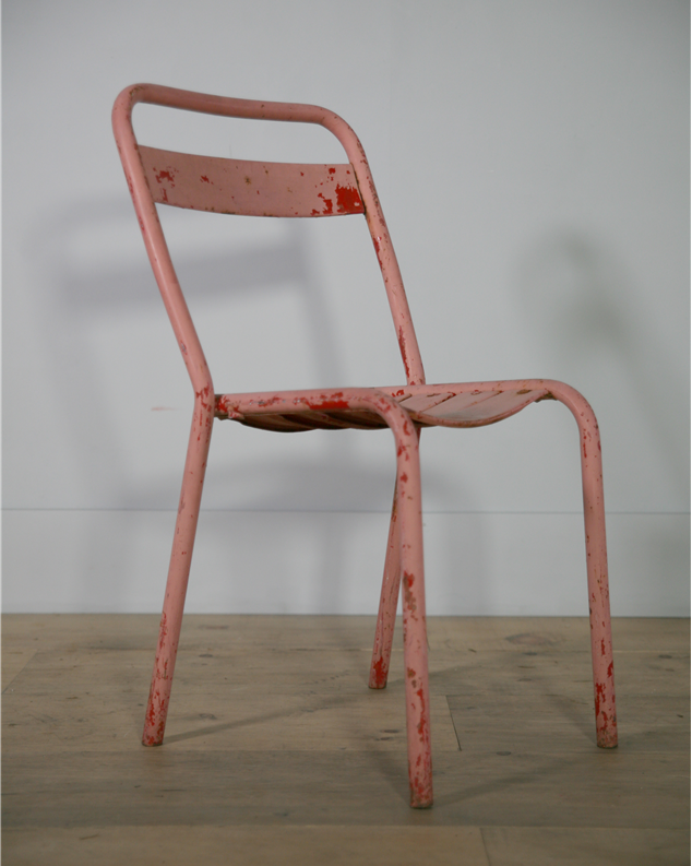 pink bistro chair