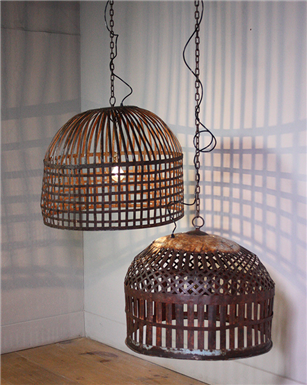 Indian Metal Caged Lights