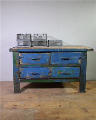 Blue 4x Drawer Workbench