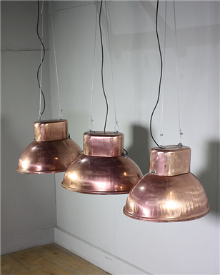Copper Industrial lights