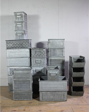 Metal Stacking Crates