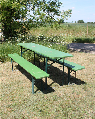 Green- German Table and Bench Sets - Oktoberfest (220cm)