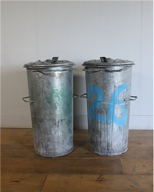 Large Galvanised Dustbins