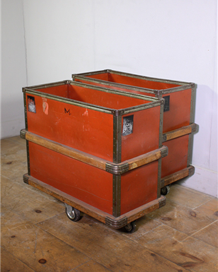 Red Industrial Storage Trolley
