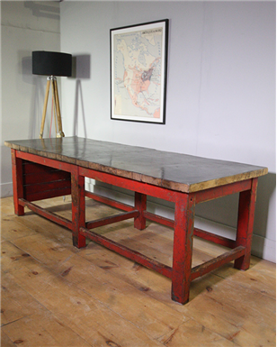 Industrial Red Table