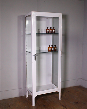 Single Door White Medical Cabinet