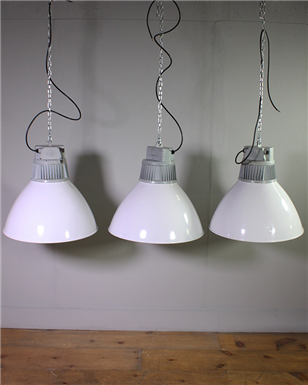White Industrial Pendant Lights