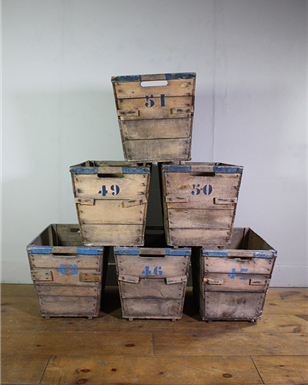 French Wooden Crates