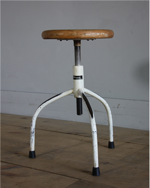 Czech white machinist stools