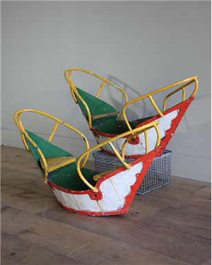 Vintage Fairground Swing Boats