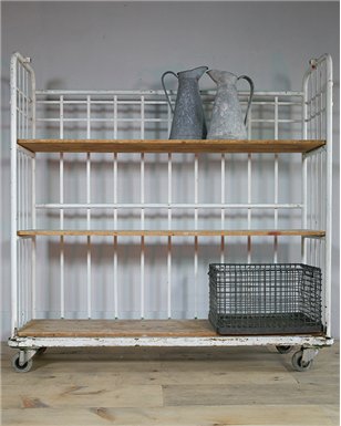 white metal Industrial Shelving Unit