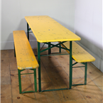 German Folding Tables and Benches (200cm)
