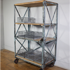 Blue Industrial Shelving