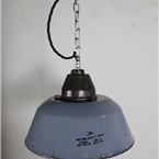 Blue Enamel Industrial Lights
