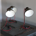 Czech Army Table Lamps
