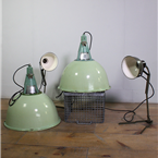 Glass Topped, Green Pendant Lights