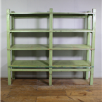 Light Green Wooden Shelving Unit