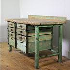Green Multi Drawer Workbench