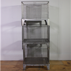 Large Metal Crates with Feet