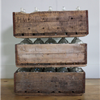 Hungarian Wooden Crates With Bottles