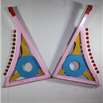 Pink Fair Ground Bumper Car Panels