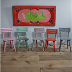 Children's Coloured Wooden Chairs