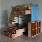 set of Vintage Drawers on Castors