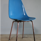 mould chair blue