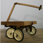white Wheeled Trolley