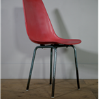 moulded red chair